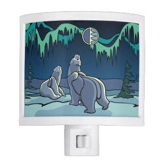 Polar Bear Nightlight Native Bear Art Night Light