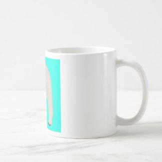 Polar Bear on Bright Turquoise Mug