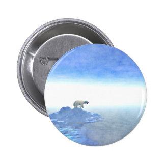 Polar Bear On Iceberg 2 Inch Round Button