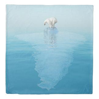 Polar Bear on Iceberg (2 sides) Queen Duvet Cover