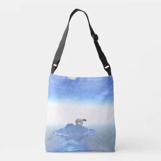 Polar Bear On Iceberg Crossbody Bag