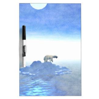 Polar Bear On Iceberg Dry-Erase Board