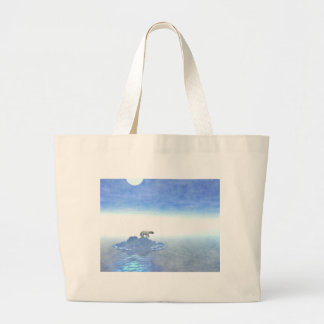 Polar Bear On Iceberg Large Tote Bag