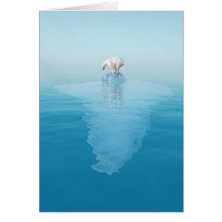 Polar Bear on Iceberg Note Card