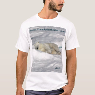 Polar Bear on Pack Ice (front & back design) T-Shirt