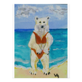 Polar Bear on Vacation Letterhead