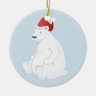 Polar bear ornament. ceramic ornament