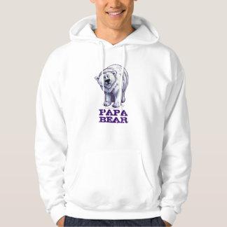 Polar Bear, Papa Bear Men's Hood Sweatshirt