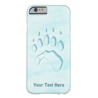 Polar Bear Paw Print Barely There iPhone 6 Case