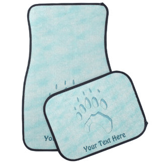 Polar Bear Paw Print Car Mat