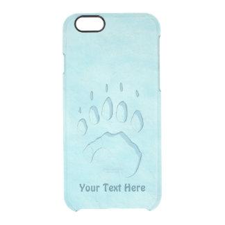 Polar Bear Paw Print Clear iPhone 6/6S Case