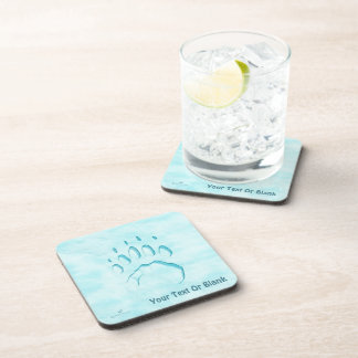 Polar Bear Paw Print Coaster