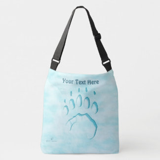 Polar Bear Paw Print Crossbody Bag