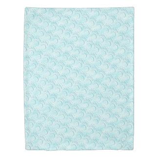 Polar Bear Paw Print Duvet Cover