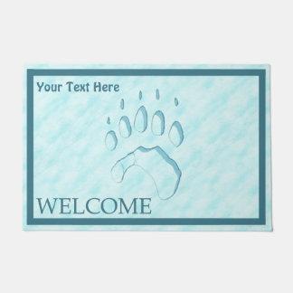 Polar Bear Paw Print  - Welcome Doormat
