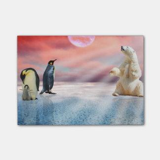 Polar Bear Penguin Post-it® Notes