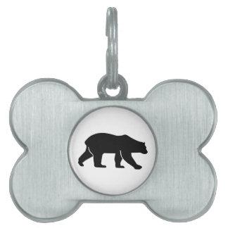 Polar bear pet name tags