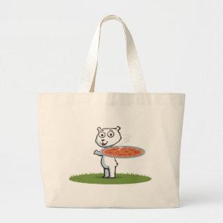 Polar Bear Pizza Tote Bag