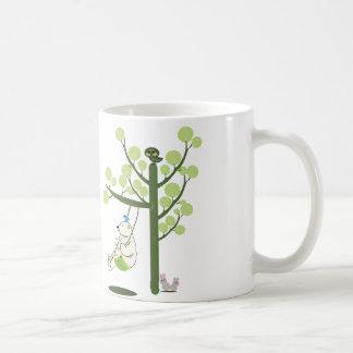polar bear play a swing coffee mug