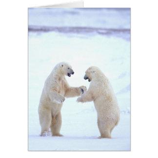 Polar Bear Play Card