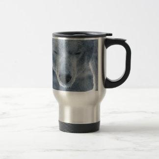 Polar Bear Portrait 15 Oz Stainless Steel Travel Mug