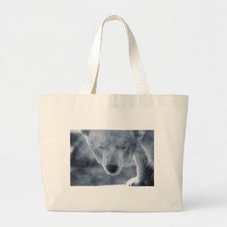 Polar Bear Portrait Canvas Bags