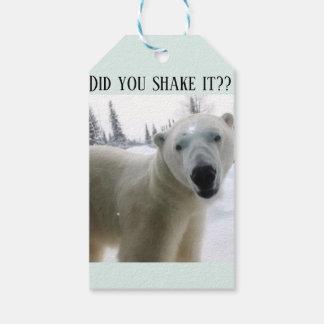 Polar Bear Present Tag