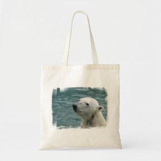 Polar Bear Profile Budget Tote Bag