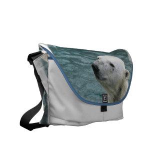 Polar Bear Profile Messenger Bag