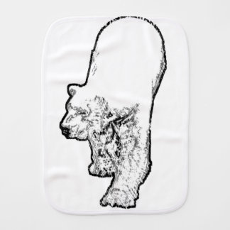 Polar Bear Prowling Burp Cloth