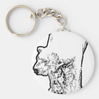 Polar Bear Prowling Keychain
