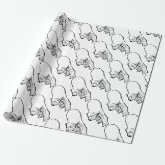 Polar Bear Prowling Wrapping Paper