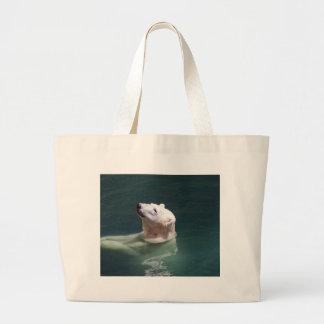 Polar bear resting jumbo tote bag