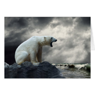 Polar Bear Roaring Greeting Card