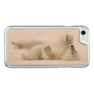 Polar bear rolling in snow, Norway Carved iPhone 8/7 Case