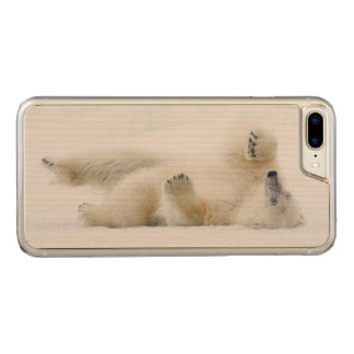 Polar bear rolling in snow, Norway Carved iPhone 8 Plus/7 Plus Case
