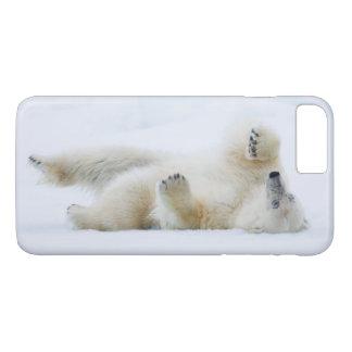 Polar bear rolling in snow, Norway iPhone 8 Plus/7 Plus Case