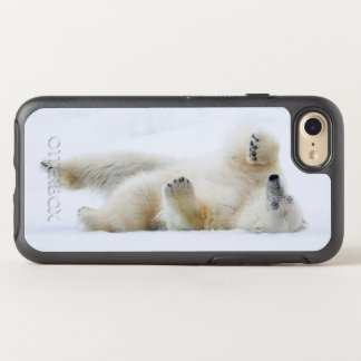 Polar bear rolling in snow, Norway OtterBox Symmetry iPhone 8/7 Case