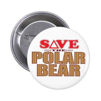 Polar Bear Save 2 Inch Round Button