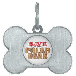 Polar Bear Save Pet Tag