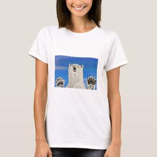 polar bear, save the arctic, women's basic T-shirt