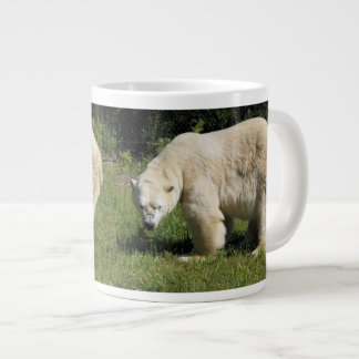 polar bear scowling specialty mug 20 oz large ceramic coffee mug