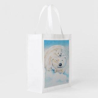 Polar bear shopping bag grocery bag