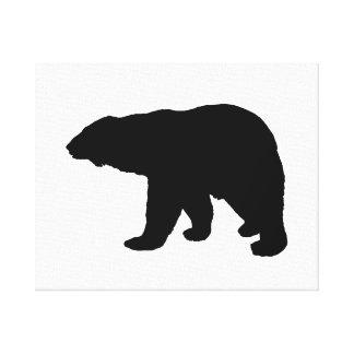 polar bear silhouette canvas print