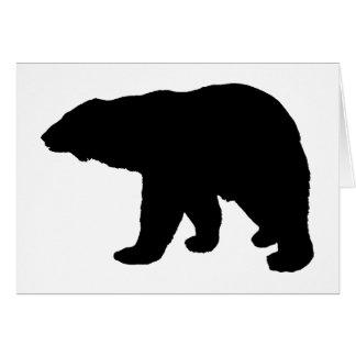polar bear silhouette card
