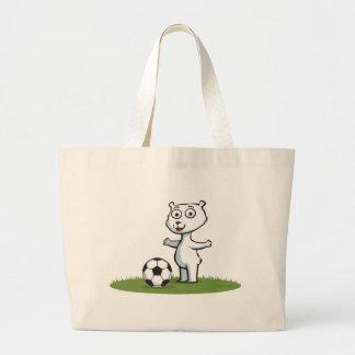 Polar Bear Soccer Tote Bag