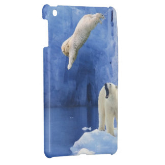 Polar Bear Splash iPad Mini Cover