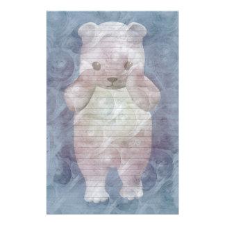 Polar Bear stationery-optional lines Stationery
