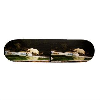 Polar Bear Stereophoto Skate Board Deck