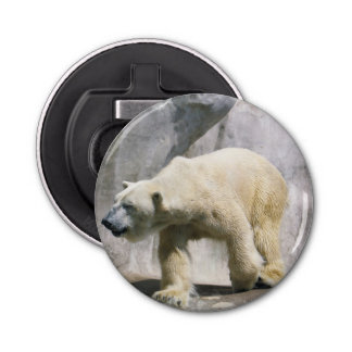 Polar Bear Strut Button Bottle Opener